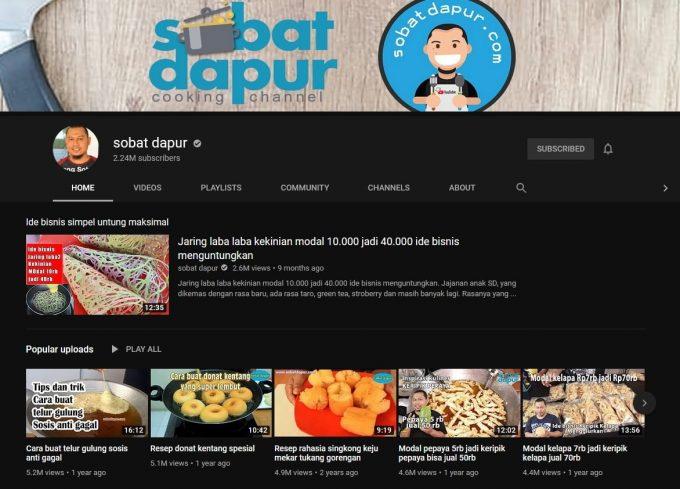 Channel Youtube Sobat Dapur