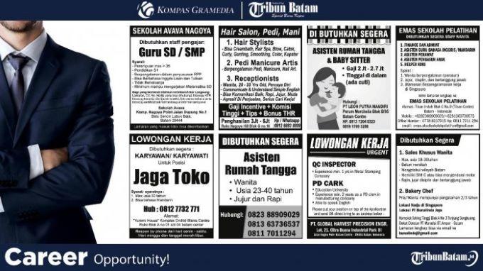 Iklan Lowongan Kerja Koran untuk mencari pekerjaan yang Anda inginkan